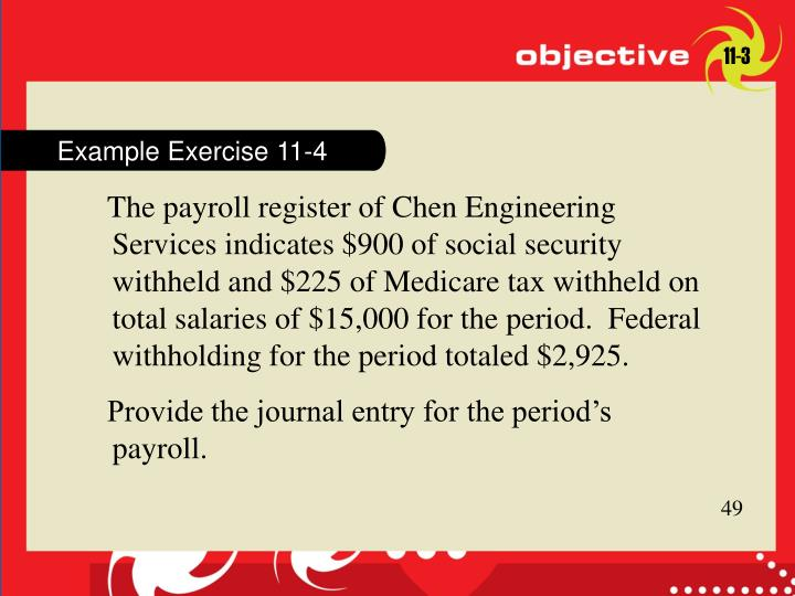 Example Exercise 11-4