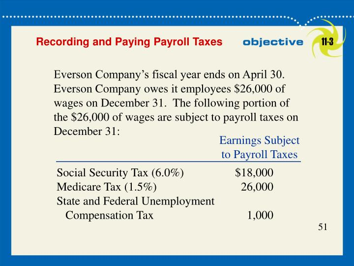 Earnings Subject to Payroll Taxes