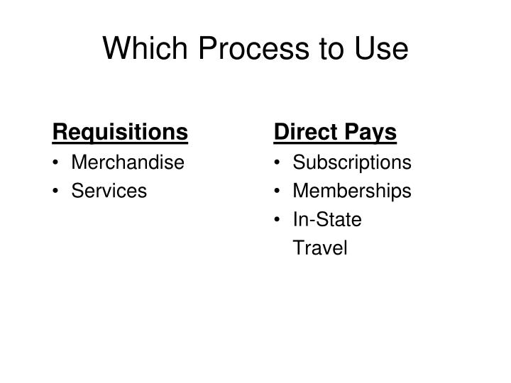 Requisitions