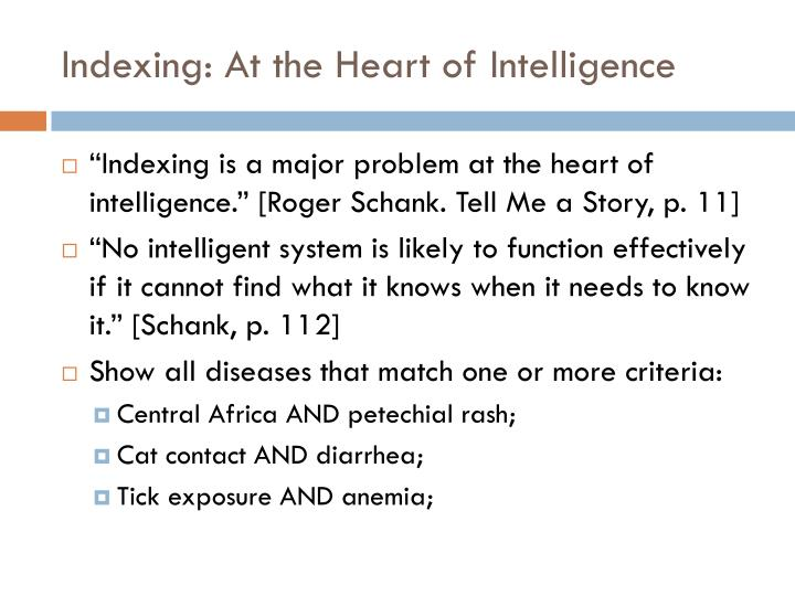 Indexing: At the Heart of Intelligence