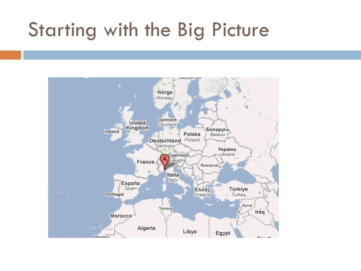 Starting with the Big Picture