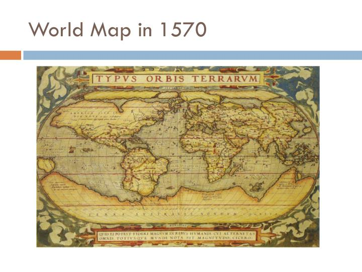 World Map in 1570