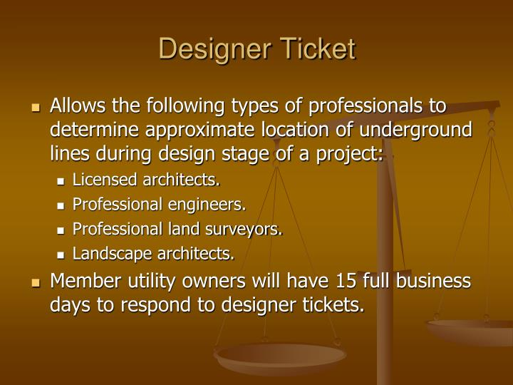 Designer Ticket