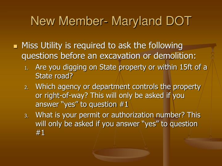 New Member- Maryland DOT