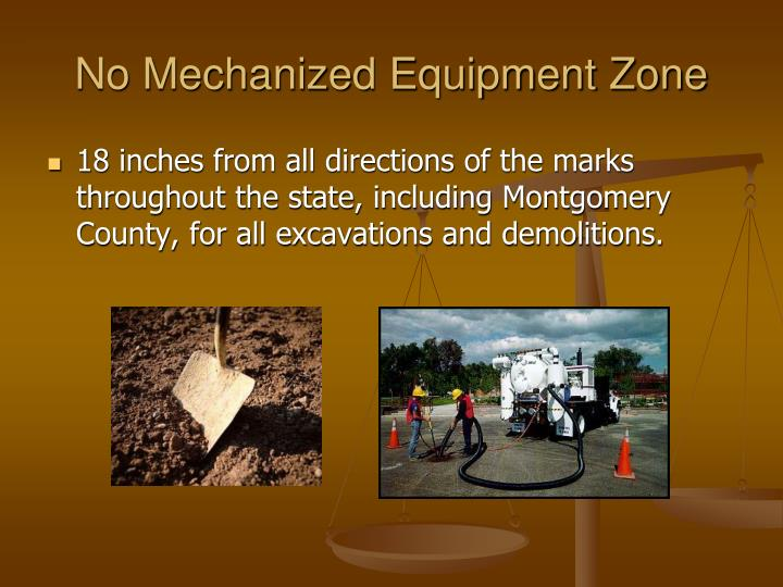 No Mechanized Equipment Zone