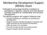 membership development support mdsg grant