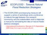 ecoflood towards natural flood reduction strategies