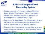 effs a european flood forecasting system