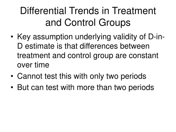 Differential Trends in Treatment and Control Groups