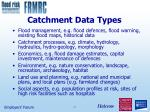 catchment data types