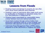 lessons from floods