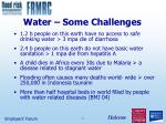 water some challenges