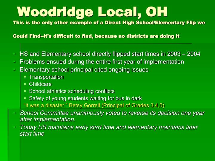 Woodridge Local, OH