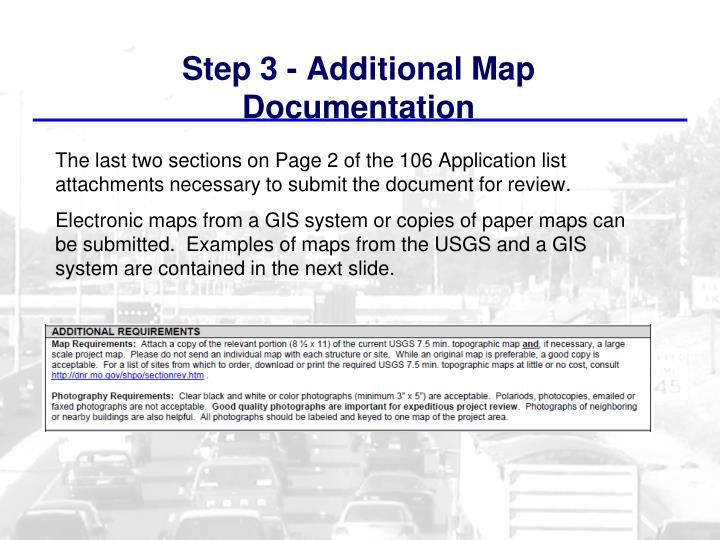 Step 3 - Additional Map Documentation