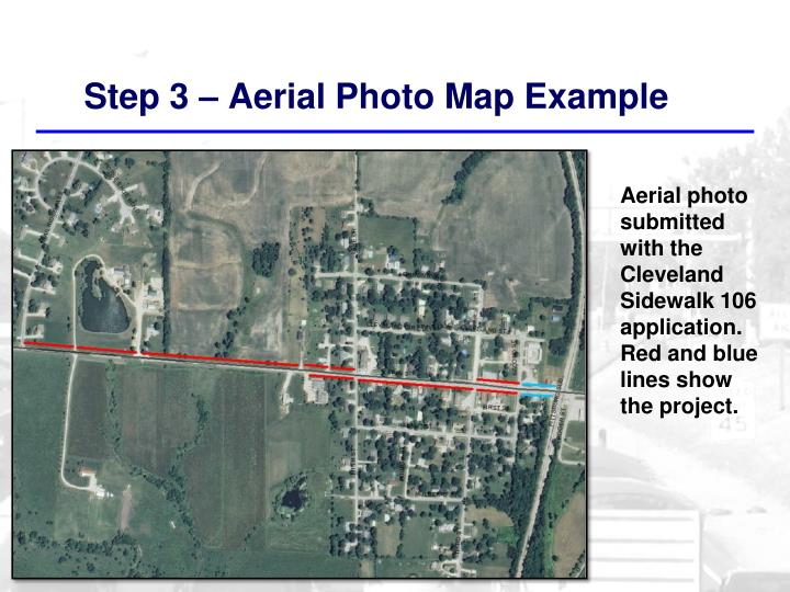 Step 3 – Aerial Photo Map Example