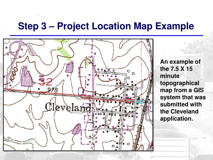 Step 3 – Project Location Map Example