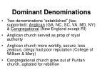 dominant denominations