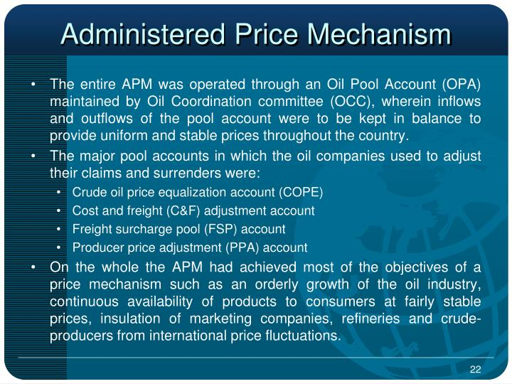 Administered Price Mechanism