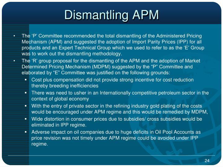 Dismantling APM