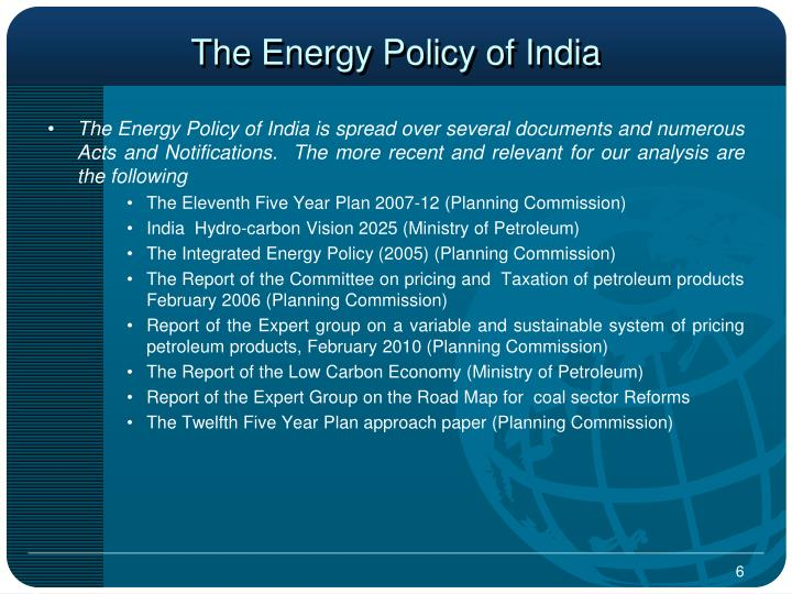 The Energy Policy of India