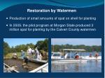 restoration by watermen