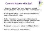 communication with staff