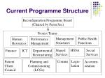 current programme structure