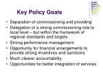key policy goals