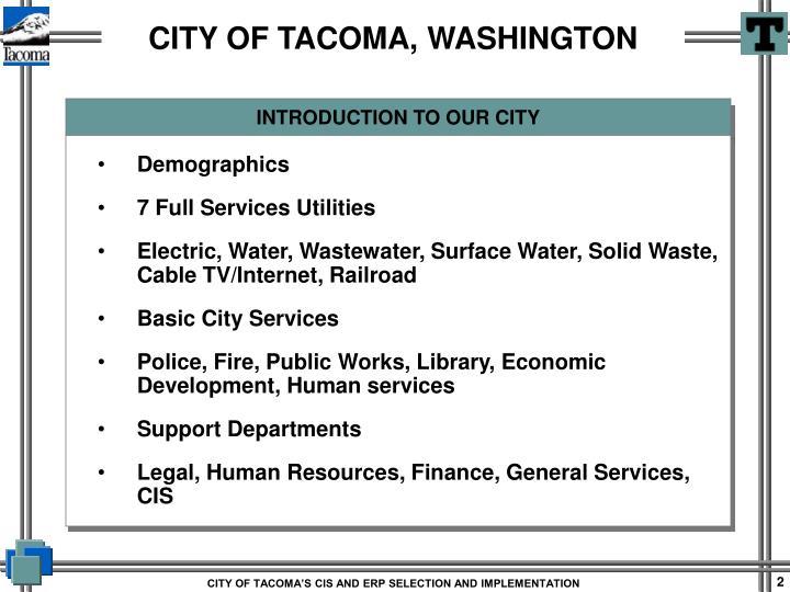 City of tacoma washington