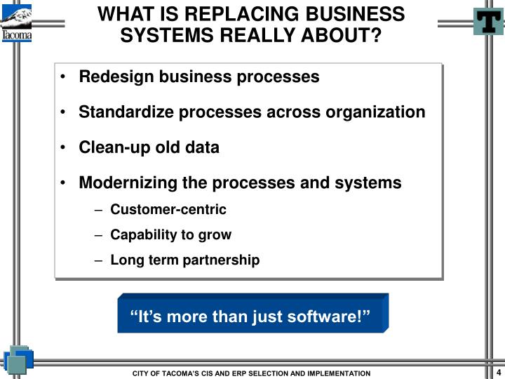 Redesign business processes