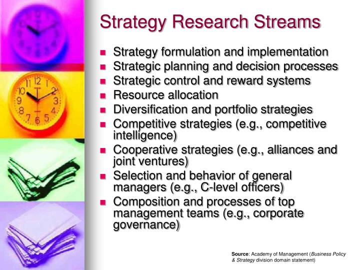 Strategy Research Streams
