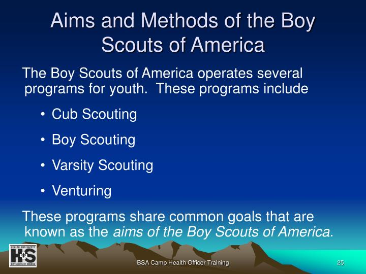 Aims and Methods of the Boy Scouts of America