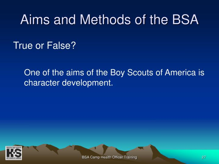 Aims and Methods of the BSA