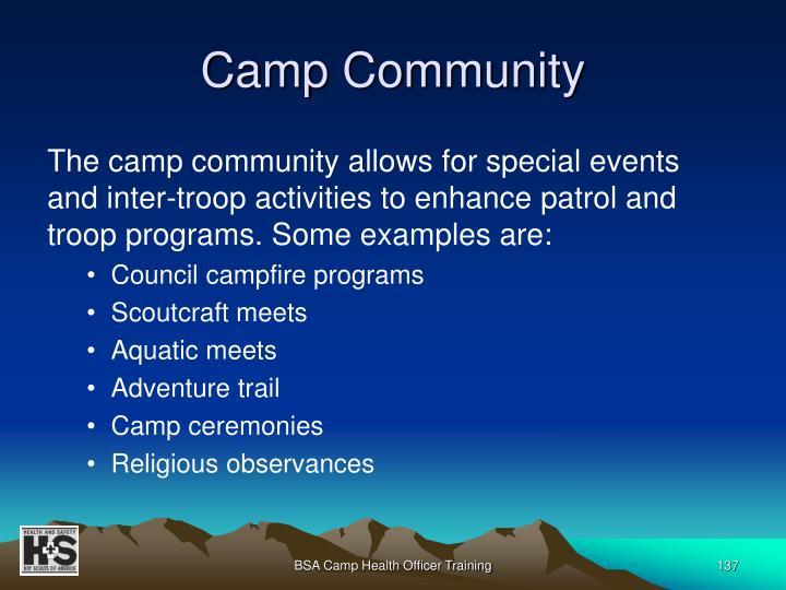 Camp Community