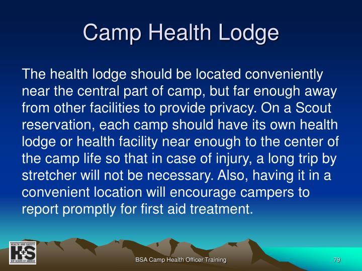 Camp Health Lodge