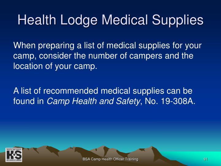 Health Lodge Medical Supplies
