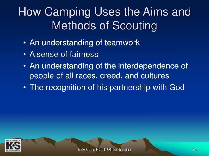 How Camping Uses the Aims and Methods of Scouting