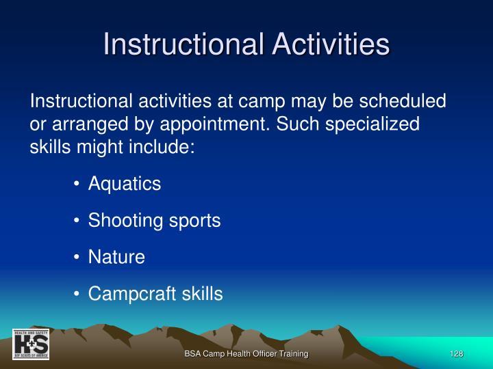 Instructional Activities