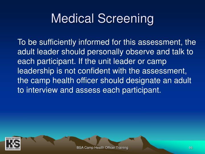 Medical Screening