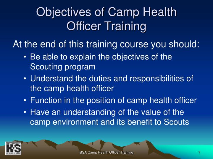 Objectives of Camp Health