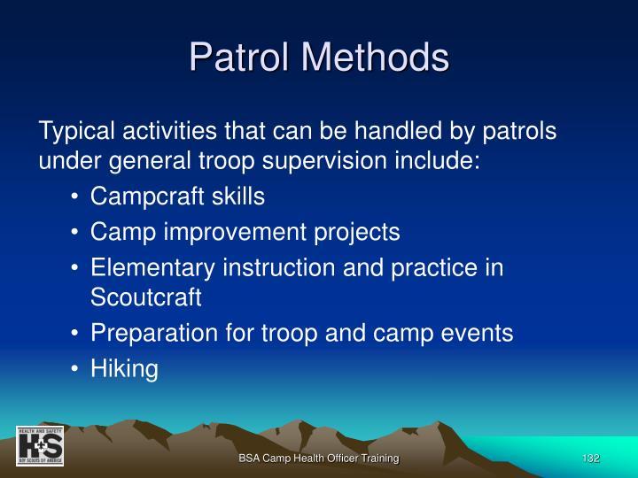 Patrol Methods