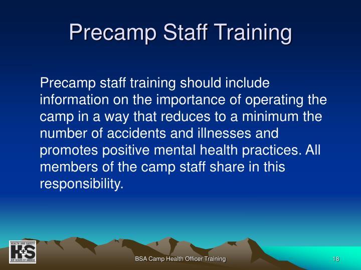 Precamp Staff Training