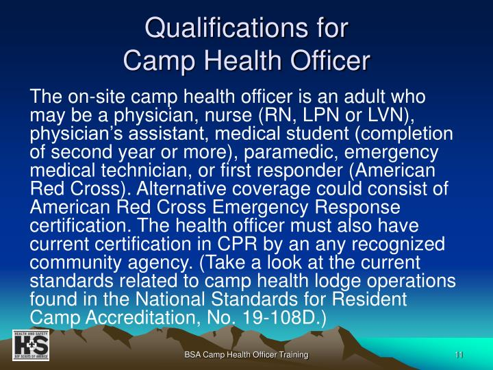 Qualifications for