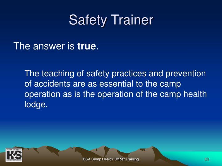 Safety Trainer