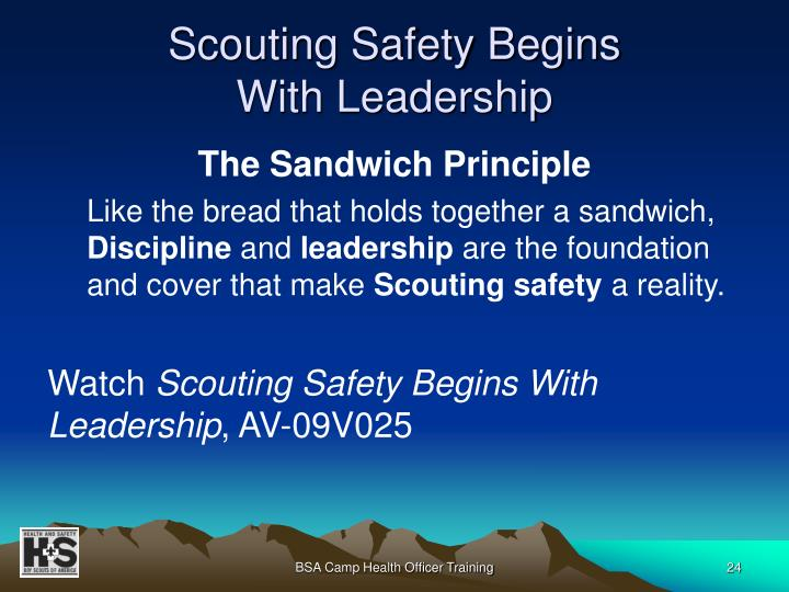 Scouting Safety Begins