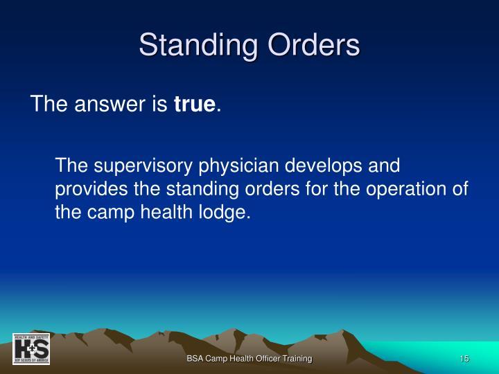 Standing Orders