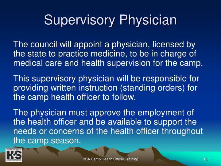 Supervisory Physician