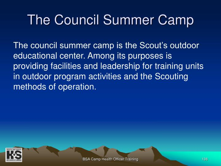 The Council Summer Camp