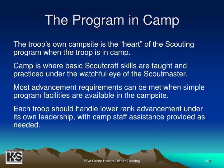 The Program in Camp