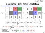 example bellman updates